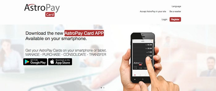 AstroPay website
