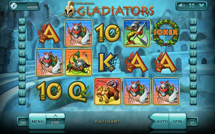 Gladiators Online Casino Slot Review game