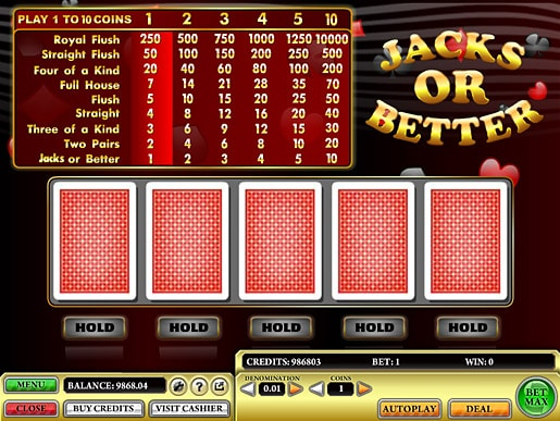 Online Video Poker games