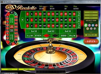 Roulette Bonuses 3d table