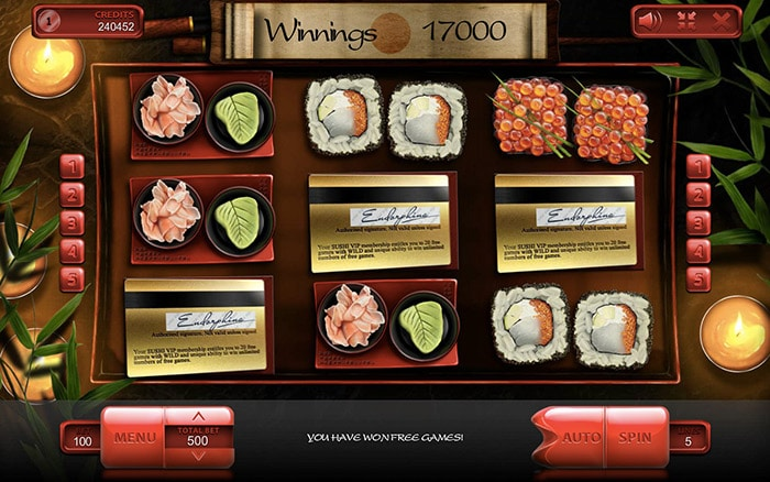Sushi Online Casino Slot Review game