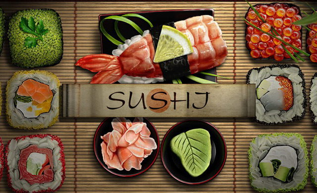Sushi Online Casino Slot Review logo