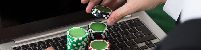 UK Online Casinos keyboard